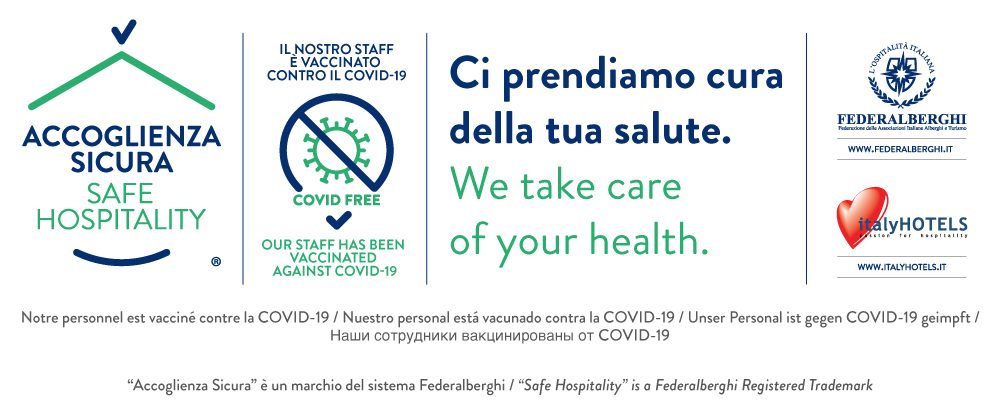 accoglienza sicura - il nostro staff è vaccinato - firma web